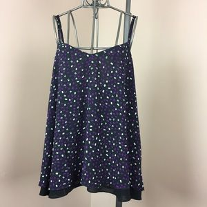 Torrid black and purple tiered camisole size 2